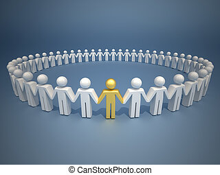 Leader of team - Icon people holding hands and forming a...