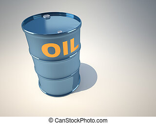 Oil drum - A simple oil drum  - illustration rendered in 3d
