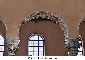 Porec Euphrasian Basilica interior, Croatia - Interior of...