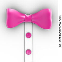 rose, arc, cravate