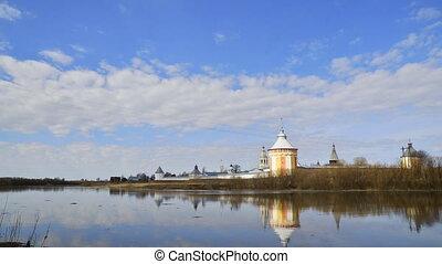 Spaso-Prilutskii Dimitriev monastery spring in Vologda...