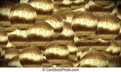 Bitcoin rain, Gold coins falling - Bitcoin rain, Gold coins...