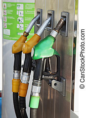 Fuel pump with three pumps, vertical image
