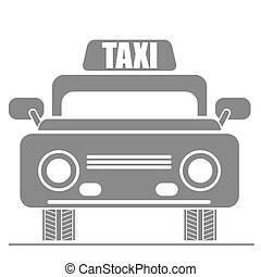 Taxi Car Icon. Public transport Sign Isolated on White...