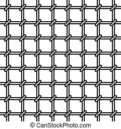 Grating seamless pattern on white background