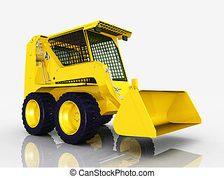 Skid-Steer Loader - Computer generated 3D illustration with...
