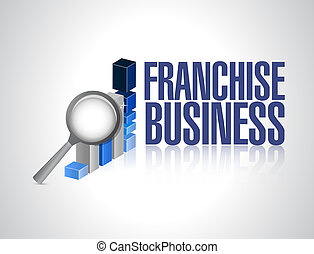 franchise business graph sign illustration design over white