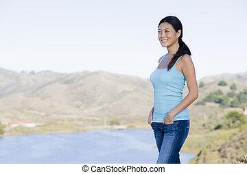 Woman in Landscape