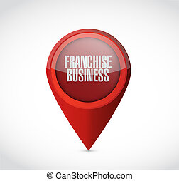 franchise business pointer sign illustration design over...