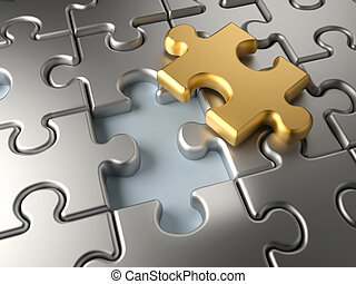 Last piece - Metallic jigsaw puzzle with an outstanding...
