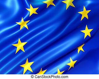 European Union flag - Illustration of the European Union...