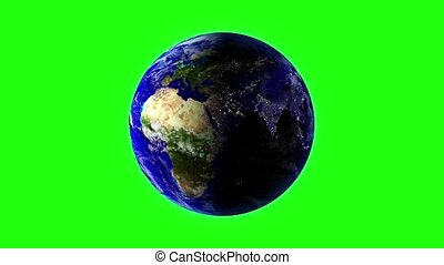 Earth in space - Planet Earth in universe or space rotation...
