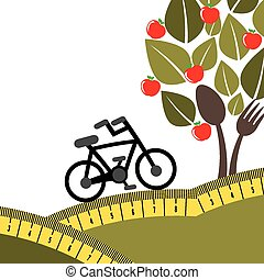 organic food design, vector illustration eps10 graphic