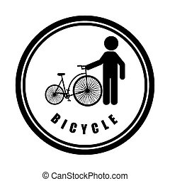 bicycle sport design, vector illustration eps10 graphic