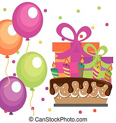 birthday party design, vector illustration eps10 graphic