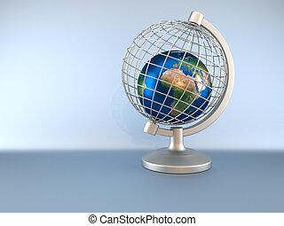 Earth globe in captivity