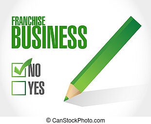 no franchise business check sign