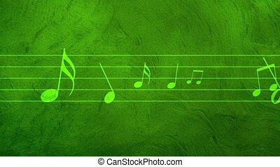 Musical notes, music notes loop - Animated background with...