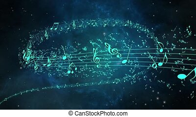 Musical notes, music notes loop
