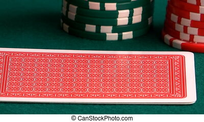 Poker hand - The hand holds of clubs and ases of diamonds on...