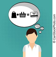 customer man design, vector illustration eps10 graphic