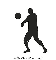 Volleyball player silhouette