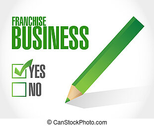 franchise business check sign illustration design over white