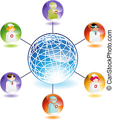 Medical Network isolated on a white background.