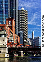 Chicago view from the river - Chicago river cruise view...