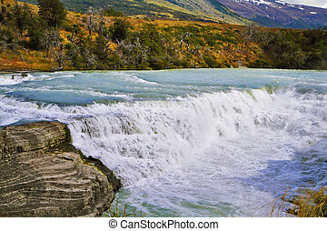 "Waterfall ""Cascades Paine"" - Magnificent powerful and..."