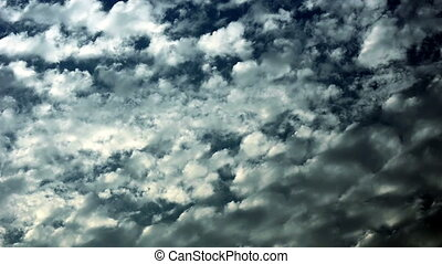 Background From Blue Sky At Cloudy Day