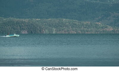 Speedboat on Baikal lake - Chivirkuy Bay The Holy Nose...