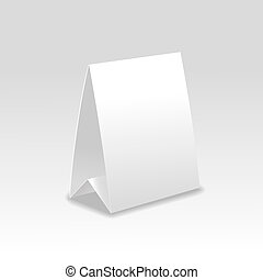 Blank paper table cards . - Blank paper table cards isolated...