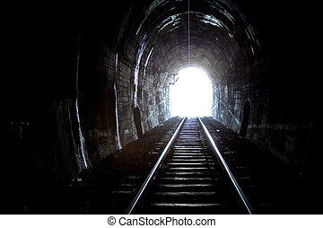 trem, túnel