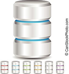 Metal Cylinder. Webhosting, Server, Mainframe Computer...