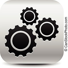 Various gear wheel, rack wheel vector graphics. Mechanics,...