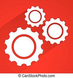 Various gear wheel, rack wheel vector graphics. Mechanics,...