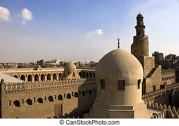 The Minaret of Ibn Tulun - The Mosque of Ahmad Ibn ?ulun is...