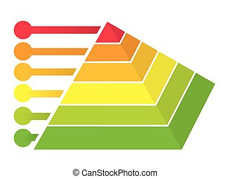 Pyramid Infographic - Vector illustration of colorful...