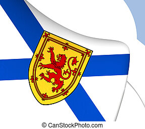 Flag of Nova Scotia, Canada. Close Up.