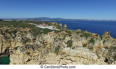 Aerial from Ponte Piedade Portugal - Aerial from Ponte...