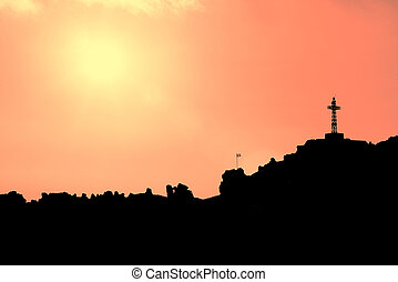 Skyline mountain with the cross on top