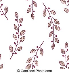 Seamless pattern background with branch - Simple seamless...
