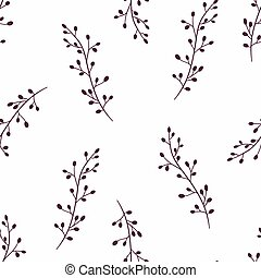 Simple floral seamless pattern background. Doodle fabric...