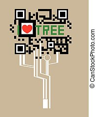 Tree ssign - art vector design