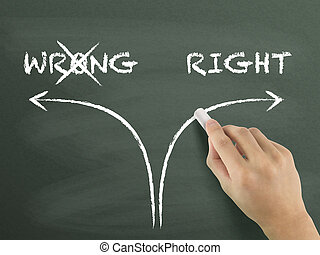 choosing the right way instead of the wrong one on...