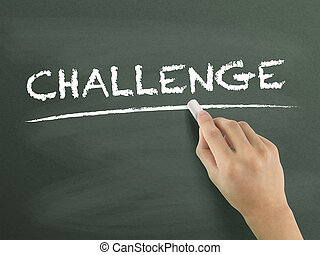 challenge word written by hand