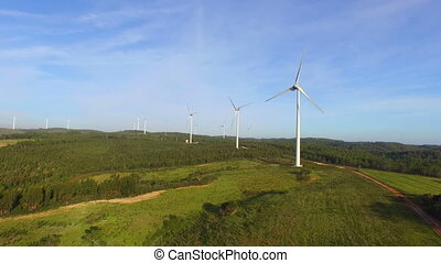 Aerial from windmills in Portugal - Aerial from windmills in...