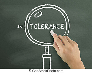 tolerance word with magnifying glass