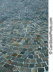 street with stone tiles - Floor of a street with stone tiles